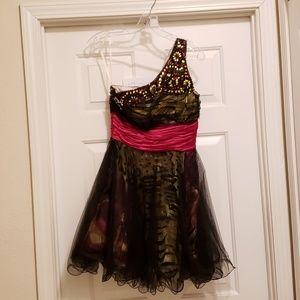 Short Beaded Formal Dress